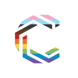 Communify logo progressive rainbow LGBTQIA