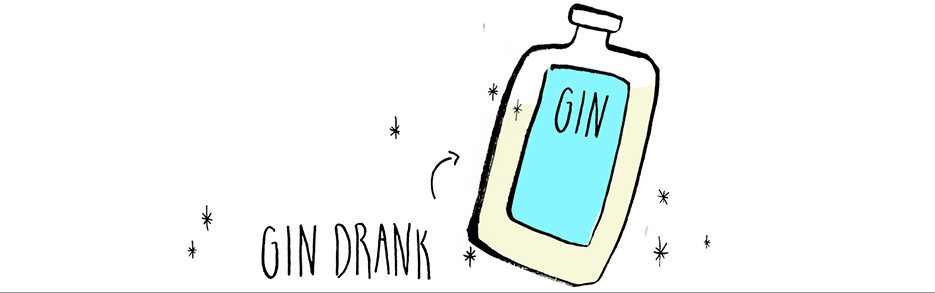 Bottle of Gin Illustration