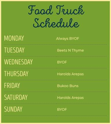 Food Truck Schedule at WayWard Owl