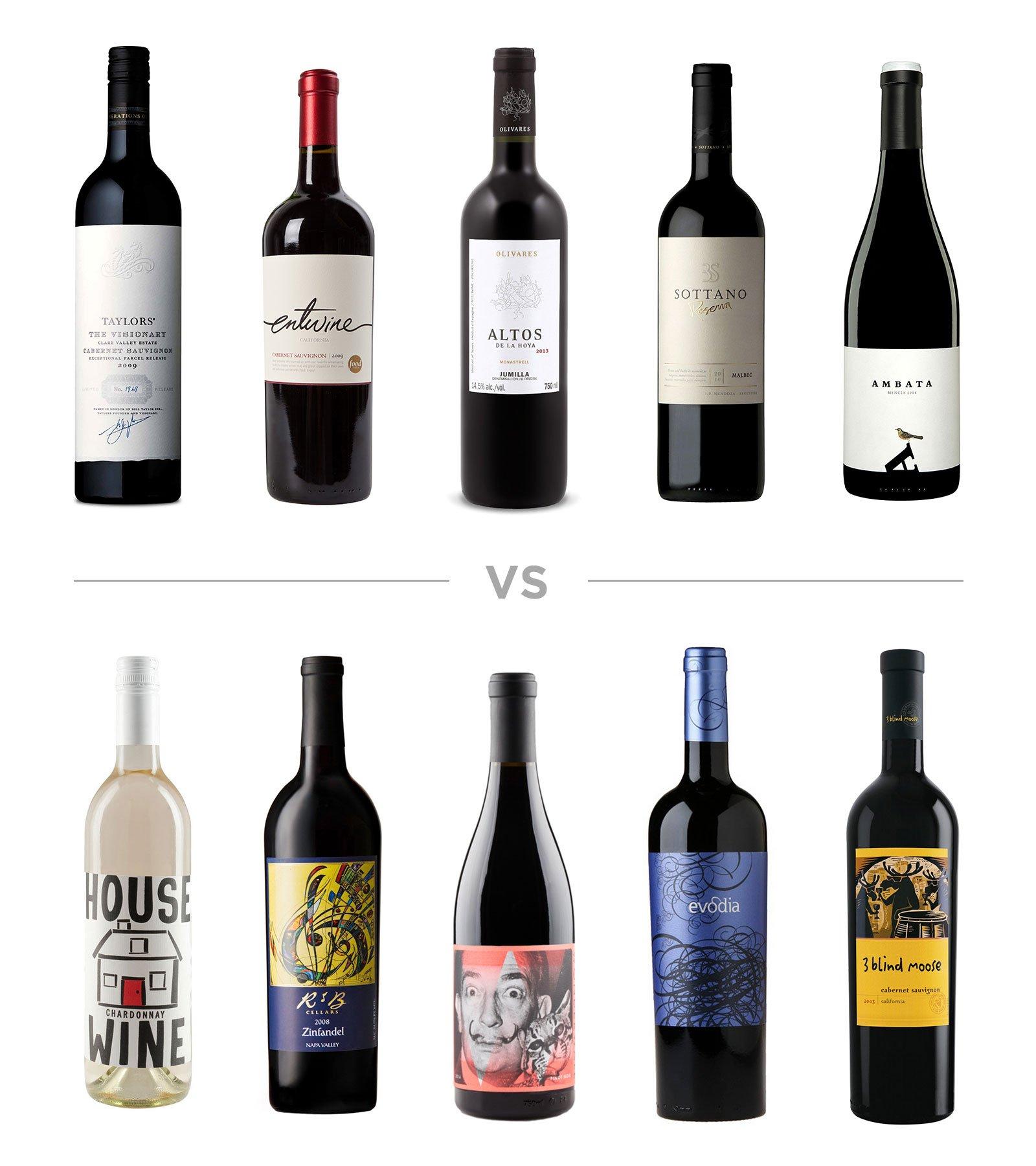 wine label comparison