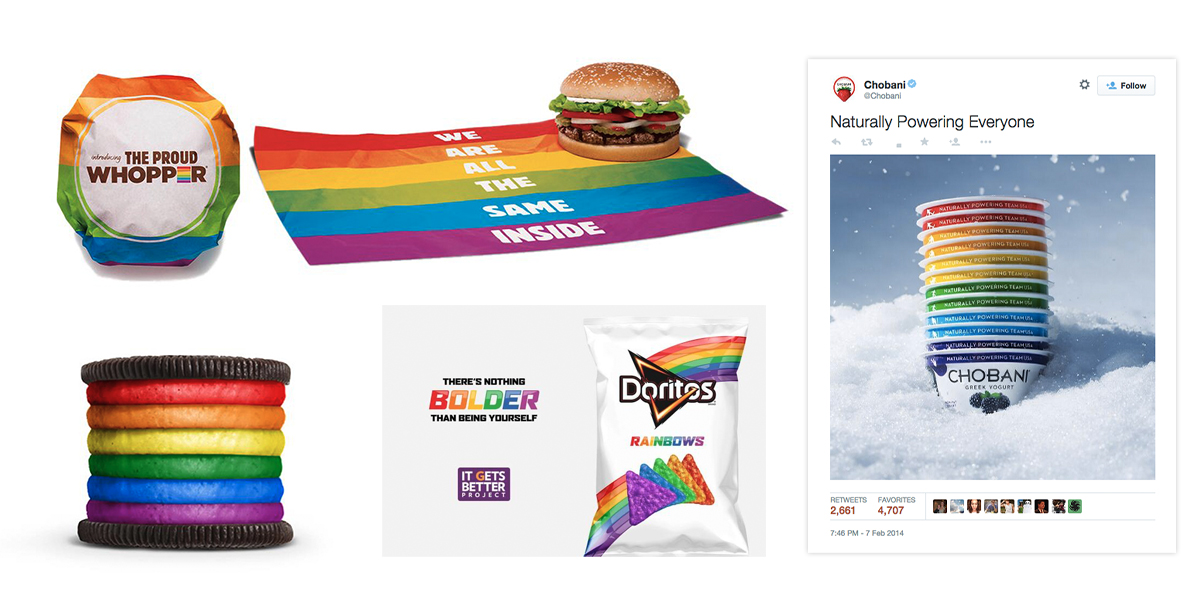 Brands turn packing rainbow colors