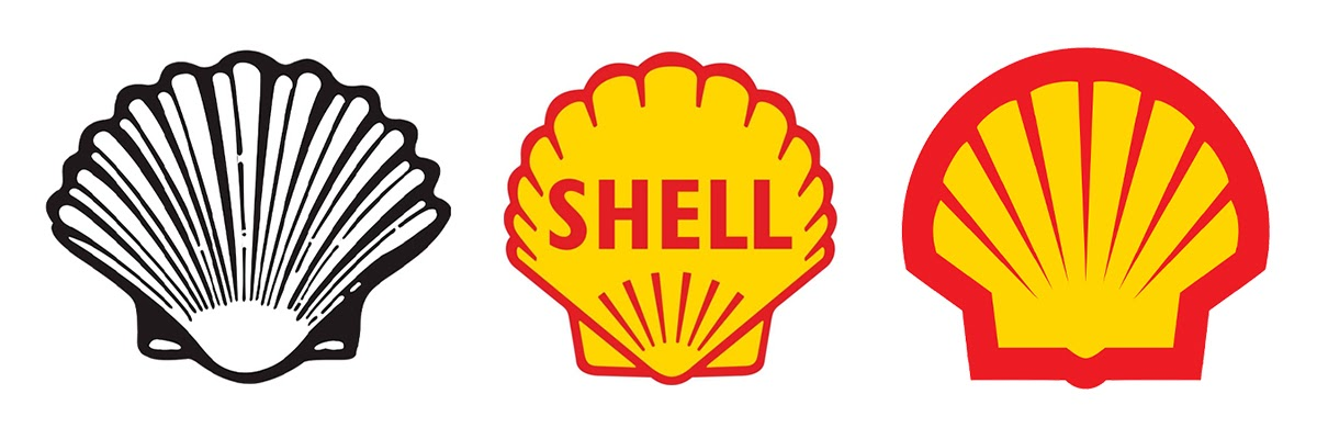 Evolution of Shell logo