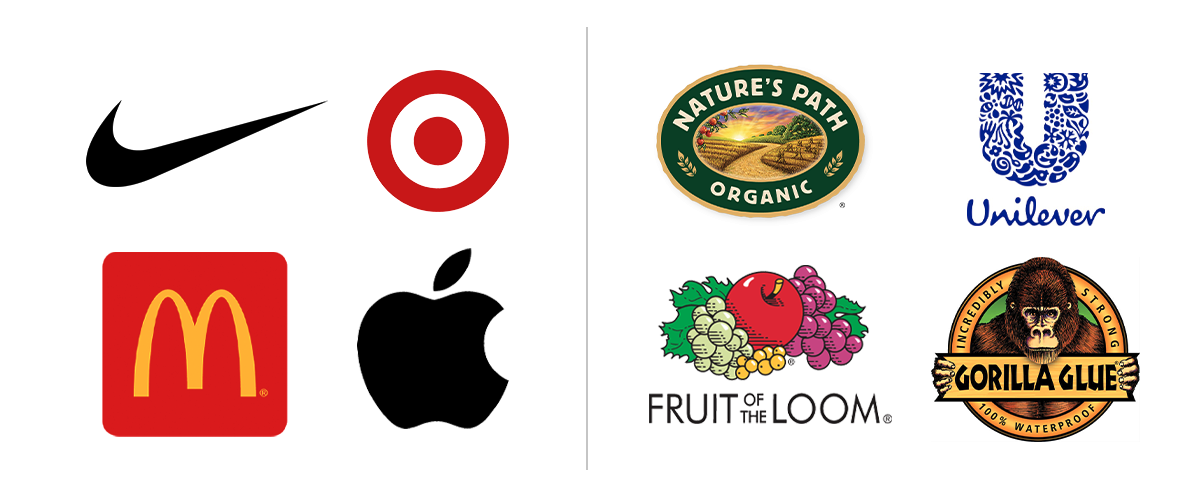 A comparison of simple versus complex logos