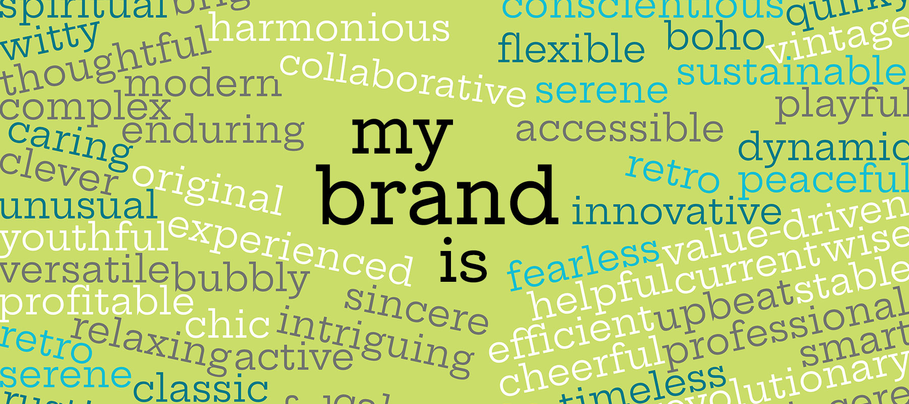 My Brand is... figure out some words that describe your brand.