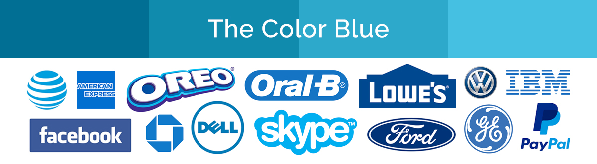 Compilation of blue logos