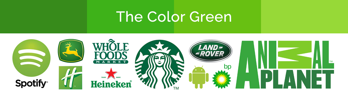 Compilation of green logos