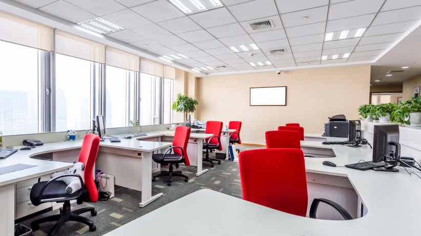 A clean office space