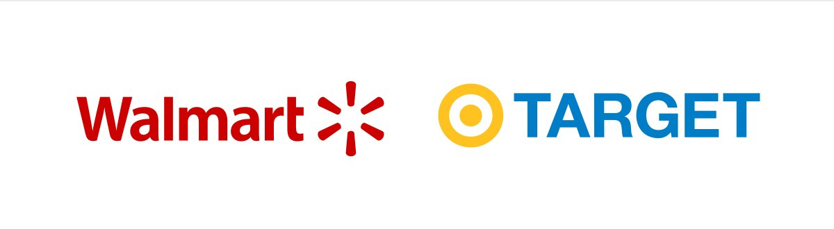 Walmart and Target colors reversed